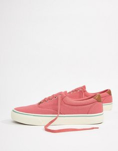 Read more about Polo ralph lauren thorton 2 pique trainers leather trims in pink - hyannis red