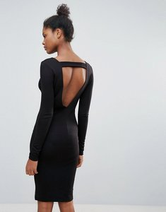 Read more about Vila open back jumper dress - black