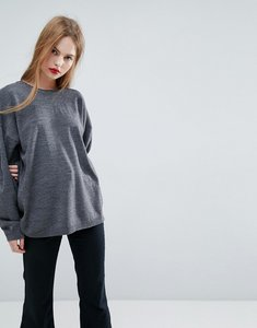 Read more about Asos jumper in oversize - charcoal