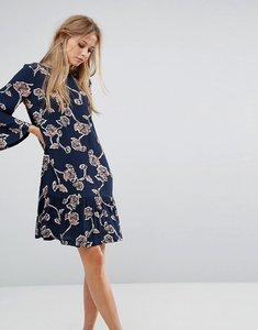 Read more about Y a s allover floral printed shift dress - multi