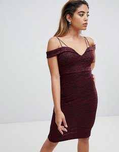 Read more about Ax paris off shoulder pencil dress - plum