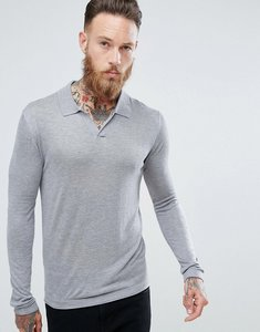 Read more about Mango man fine knit polo in grey - grey