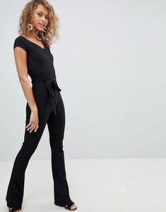 Read more about Miss selfridge skinny rib jumpsuit - black