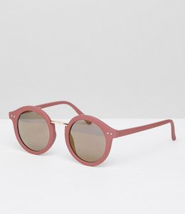 Read more about Pieces round coloured sunglasses - pink