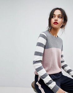 Read more about Y a s striped knitted jumper - multi
