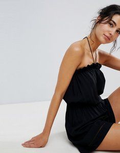 Read more about Seafolly strapless pull on beach playsuit - black