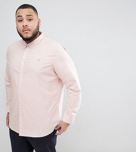 Read more about Farah brewer slim fit shirt oxford shirt in pink - pink