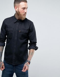 Read more about Levis orange tab long sleeve black chambray shirt - black