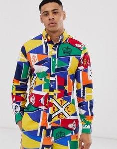 Read more about Polo ralph lauren all over flag print button down oxford shirt custom regular fit in multi
