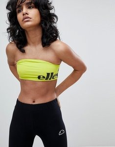 Read more about Ellesse bralet with wraparound contrast logo - lime