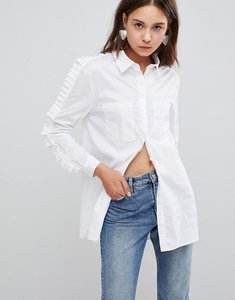 Read more about Glamorous ruffle shirt - white