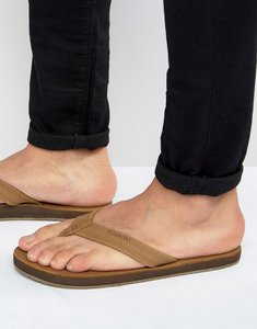 Read more about Billabong all day leather flip flops - tan