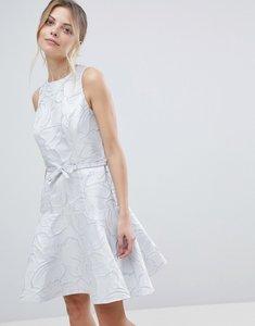 Read more about Coast francesca metallic slater dress - silver