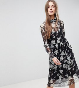 Read more about Y a s tall ditsy midi dress - multi