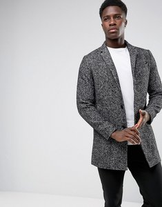 Read more about Selected homme salt n pepper notch overcoat in wool mix - salt and pepper