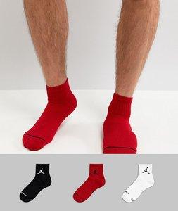 Read more about Nike jordan jumpman 3 pack quarter socks in multi sx5544-011 - multi