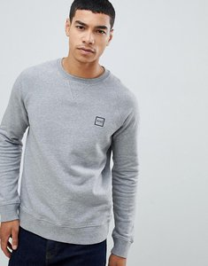 Read more about Boss wyan crew neck box logo sweat in grey - grey