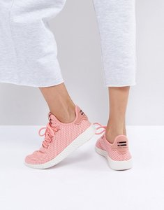 Read more about Adidas originals x pharrell williams tennis hu trainers in pink - pink
