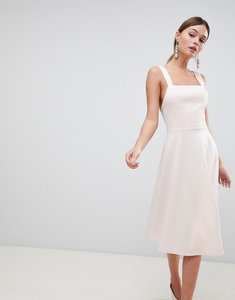 Read more about Asos design square neck prom dress - peony pink
