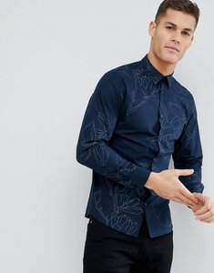 Read more about Selected homme slim fit smart shirt with floral print - black