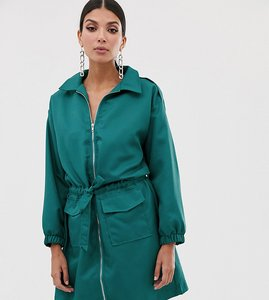Read more about Missguided tall utility dress in teal