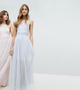 Read more about Coast exclusive corwin multi tie maxi dress - silver