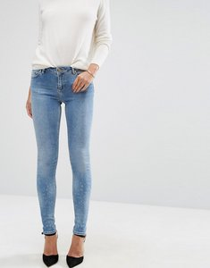 Read more about Asos lisbon mid rise jeans in zoe wash - mid wash blue