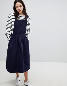 Read more about Mads norgaard cotton apron dress - 021 navy