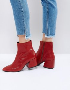 Read more about Vagabond olivia cherry red leather ankle boots - red