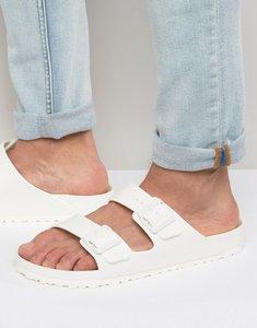 Read more about Birkenstock arizona sandals in white - white