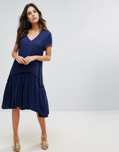Read more about Little white lies maiya smock dress - navy