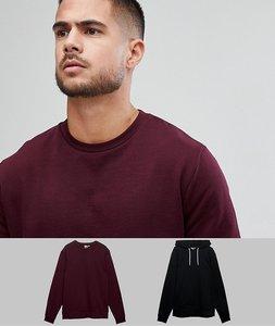 Read more about Asos sweatshirt and hoodie 2 pack black burgundy save - kidney black