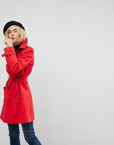 Read more about Asos design classic trench coat - red