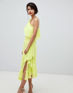 Read more about Asos design ruffle midaxi dress in sequin