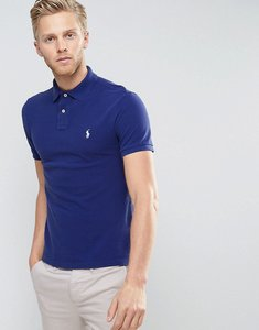 Read more about Polo ralph lauren pique polo slim fit in navy - yale blue