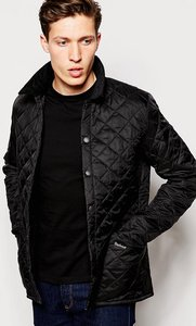 Read more about Barbour liddesdale quilted jacket slim fit - black