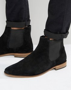 Read more about Kg by kurt geiger chelsea boots in black suede - black