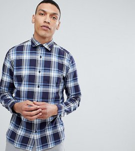 Read more about Selected homme slim fit check shirt - maritime blue check