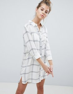 Read more about Wednesday s girl shirt dress in check - white check
