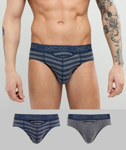 Read more about Hom 2 pack brief - grey