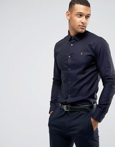 Read more about Farah slim shirt in spot - black