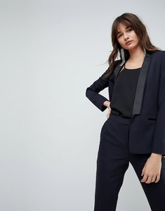 Read more about Asos premium tux blazer with contrast trim - navy