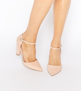 Read more about Asos speaker pointed heels - nude