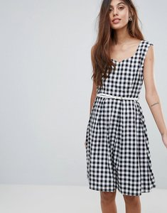 Read more about Yumi belted gingham dress - black
