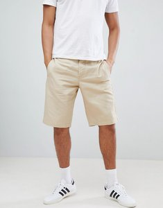 Read more about United colors of benetton linen shorts in beige - stone 1k3