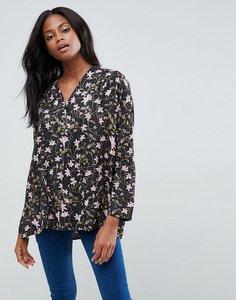 Read more about Vila printed blouse - black