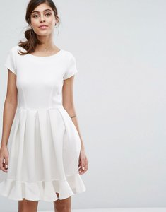 Read more about Closet london pephem midi dress with cap sleeve - white