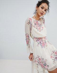 Read more about Miss selfridge high neck floral mini dress - multi
