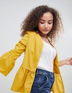 Read more about Parisian peplum hem jacket - mustard