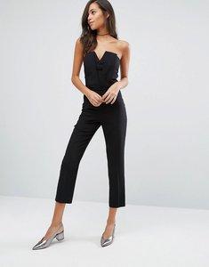 Read more about Miss selfridge bandeau jumpsuit - black
